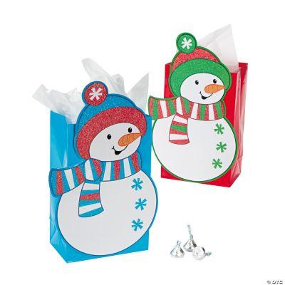 Snowman Glitter Gift Bags
