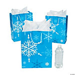 Large Blue & White Gift Bags
