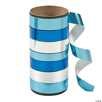 Blue & White Curling Ribbon