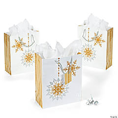 Medium Gold & Silver Gift Bags