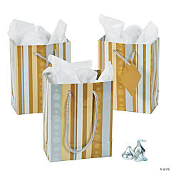 Small Gold & Silver Gift Bags