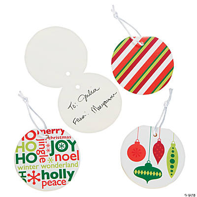 Green & Red Favor Tags