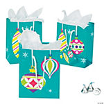 Small Bright Christmas Gift Bags