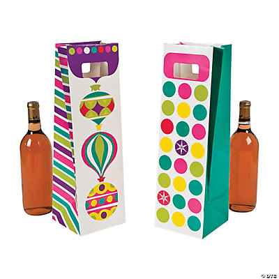 Bright Christmas Wine Bags