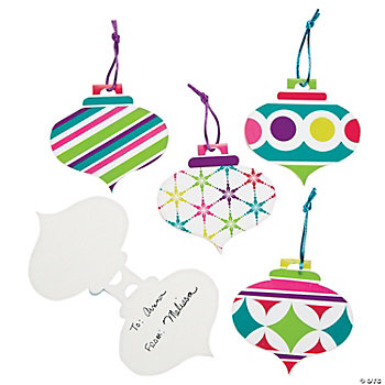 Bright Christmas Favor Tags
