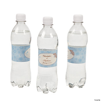 Personalized Winter Enchantment Water Bottle Labels