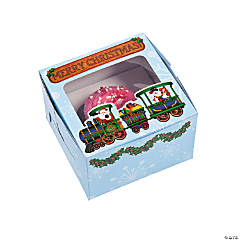Holiday Train Cupcake Boxes