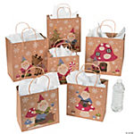 Christmas Gnome Kraft Paper Gift Bag Assortment