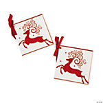 Red & White Reindeer Favor Tags