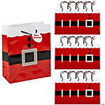 Medium Santa Gift Bags with Gift Tag