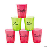 """Naughty"" & ""Nice"" Shot Glasses"