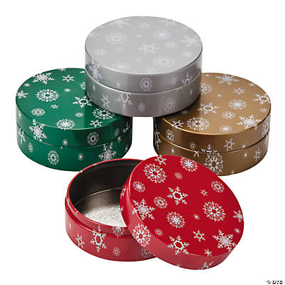 Round Christmas Containers