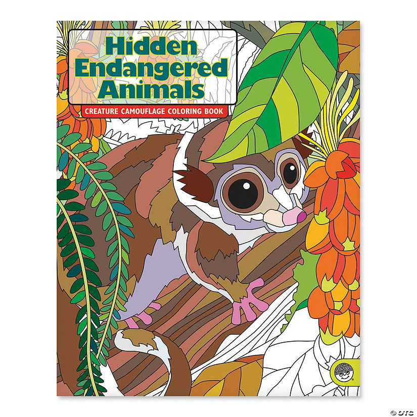 Hidden Endangered Animals Coloring Book