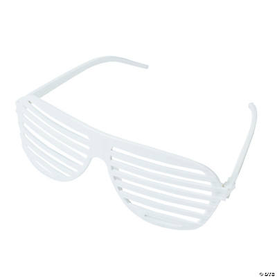 White Shutter Shading Glasses