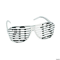"""2013"" Silver Metallic Shutter Shading Glasses"