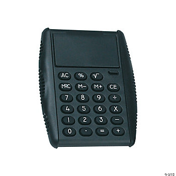 Black Basic Flip Calculator