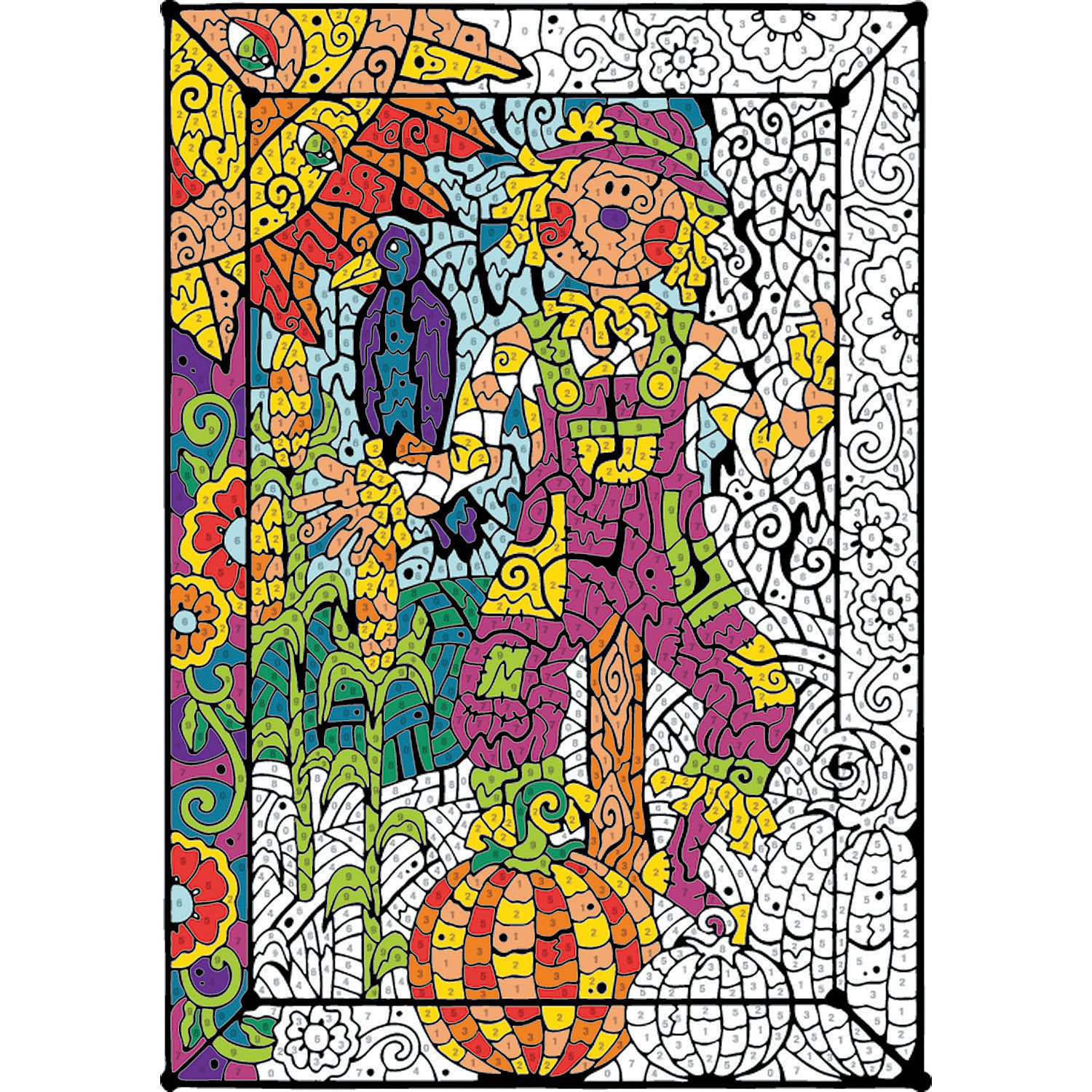 Color counts garden older adults adult coloring books for Color counts coloring pages