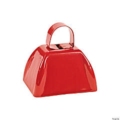 Red Metal School Cowbells