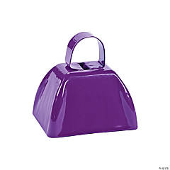 Purple School Cowbells