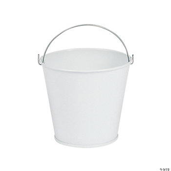 White Pails With Handles