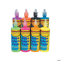 Neon Fabric Paint Set