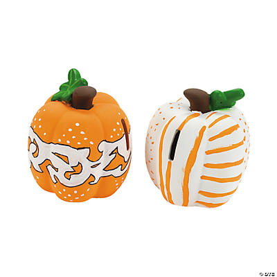 DIY Ceramic Pumpkin Banks
