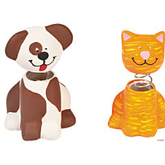 DIY Ceramic Bobble Head Cats And Dogs