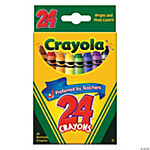 24-Color Crayola® Crayons (12 Boxes)