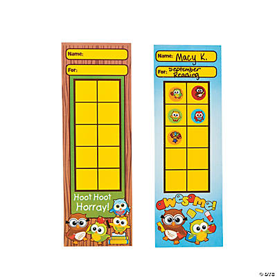 24 Owl Goal Chart Bookmarks