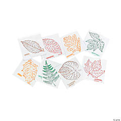 8 Learning Leaves! Rubbing Plates
