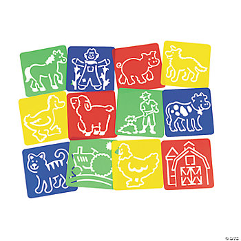12 Fun On The Farm! Stencils