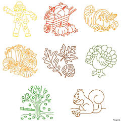 Fantastic Fall Rubbing Plates