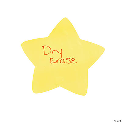 Star Dry Erase Classroom Clings
