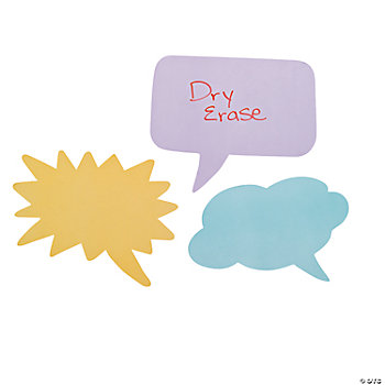 Message Bubble Dry Erase Classroom Clings