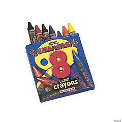 8-Color Large Crayons (12 Boxes)
