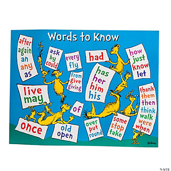 Dr. Seuss™ Sight Words Poster