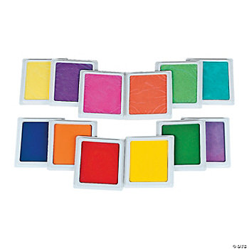 12 Pc. Classic And Tropical Giant Color Stamp Pad Kit
