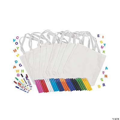 DIY White Canvas Tote Bag Kit