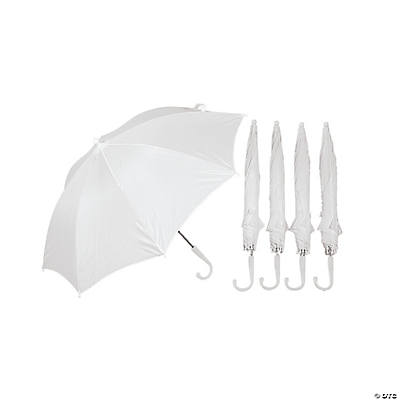 DIY White Umbrellas