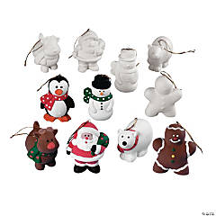DIY Ceramic Holiday Character Christmas Ornaments