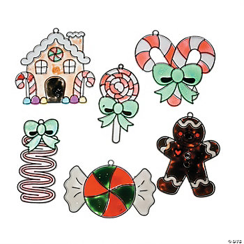 Holiday Candy Sun Catcher Ornaments