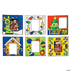 24 Holiday Sun Catcher Photo Frame Ornaments