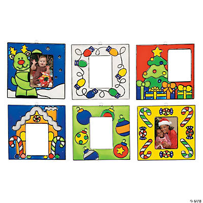 Holiday Suncatcher Picture Frame Ornaments