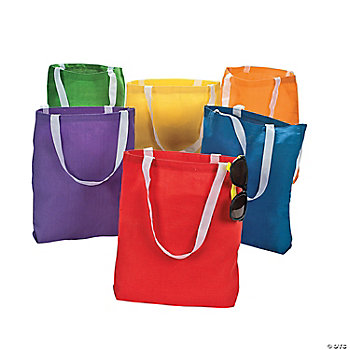 DIY Colorful Canvas Bags
