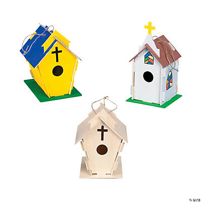 DIY Wood Beautiful Church Birdhouses