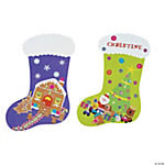 DIY Giant Christmas Stocking Sticker Scenes