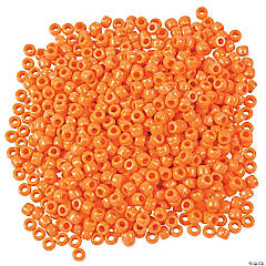 1/2 Lb. of Orange Pony Beads