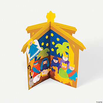DIY 3D Nativity Scenes With Stickers