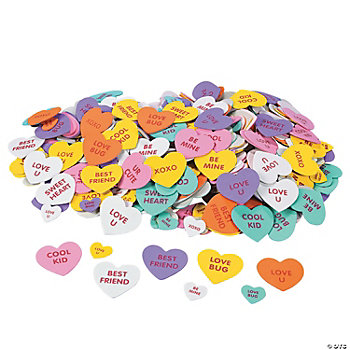 500 Valentine Conversation Self-Adhesive Foam Hearts