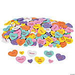 500 Inspirational Conversation Self-Adhesive Foam Hearts